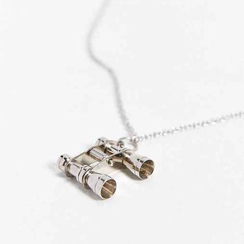 We Are All Smith Silver Binoculars Necklace- Bronze One