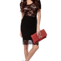 Bonita Lace Contrast Pencil Skirt