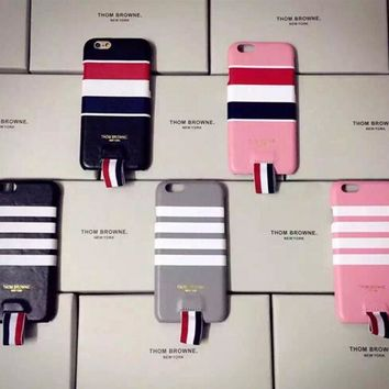 Thom browne: Creative leather case for iphone 6s 6 plus