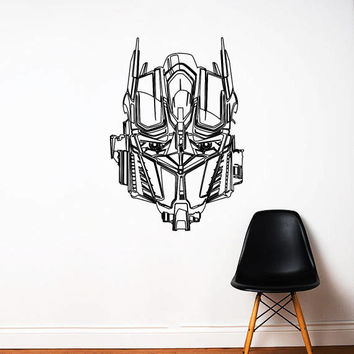 Transformers Wall Decal,Prime Wall Sticker,Bumblebee wall decal,Kids Wall sticker,Bedroom Wall Sticker,Nursery wall decal kau 272