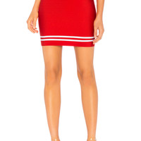 by the way. Hollie Bandage Mini Skirt in Cherry