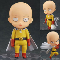 "Cute Nendoroid ONE PUNCH-MAN Saitama #575 PVC Action Figure Collectible Model Toy 4"" 10cm"