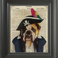 Pirate Dog  - Printed on Friendship page  -  250Gram paper.
