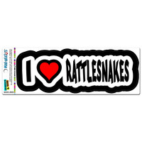 I Love Heart Rattlesnakes MAG NEATO'S TM Car-Refrigerator Magnet - No. 1