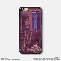 Rapunzel The Doctor Who Disney iPhone Case Black Hard case 532