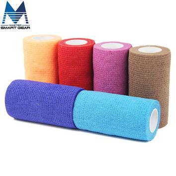6 Rolls 10cm x 5cm Waterproof Self Adhesive Elastic Bandage Muscle Tape Finger Joints Wrap Therapy Bandage Care Tape