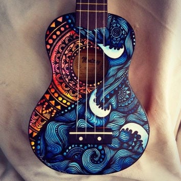 Waves & mandala ukulele