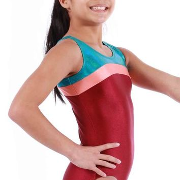 Back To School Girl's Gym & Dance Mixed Sleeveless Bodysuit