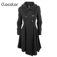 Clocolor Asymmetric Black Coat 11801177
