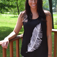 Under His Wings Tank - Black