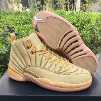 "AJ 12 PSNY x Air Jordan 12 ""Wheat"" Men Basketball Shoes"