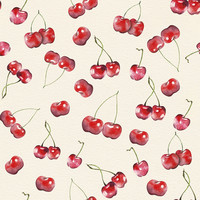 Cherry Pattern Removable Wallpaper