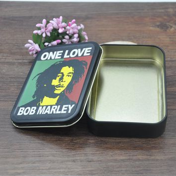 1 X King size Reggae Rasta Metal Tobacco Box Size (110mm*80mm) Cigarette Case