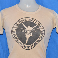 1978 Bonne Bell 10K Run Boston Championship Rib Knit t-shirt Women's Small