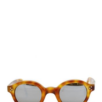 "LESCA ""Le corbusier"" Tortoiseshell sunglasses with mirror glasses by FrenchVintage Lunetier"