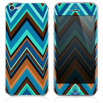 The Sharp Abstract Chevron Pattern V9 Skin for the iPhone 3, 4-4s, 5-5s or 5c