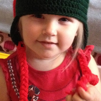 Hand Crocheted Ninja Turtle Beanie/ Hat - All Sizes Available & Any Color