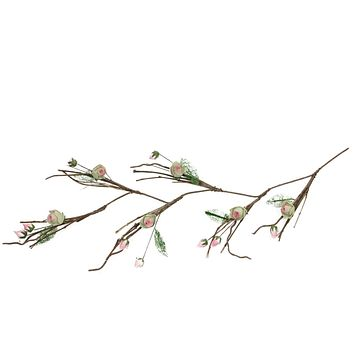 4' Brown  Cream and Pink Decorative Spring Floral Garland