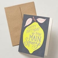 Main Squeeze Birthday Card by 1canoe2 Yellow One Size Gifts