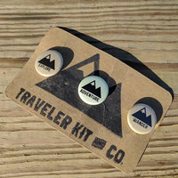 Traveler Kit and Co Button Pack // Wander Adventure Travel Decal Pin Car Laptop Road trip Combo Explore