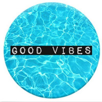 Good Vibes Pool Blue generic Pop socket style Round Expanding Phone Holder