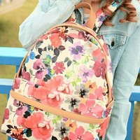 Flora Print Backpack QZN854