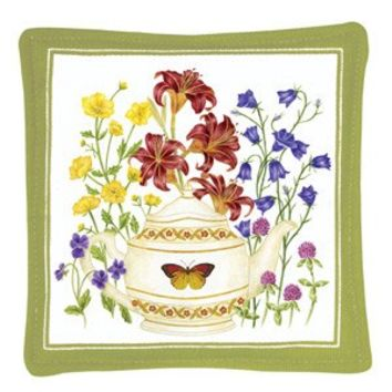 Gift Boxed Set of 4 Butterfly Teapot Spiced Mug and Tea Cup Mats