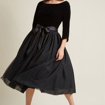 Collectif Classy Midi Fit and Flare Dress