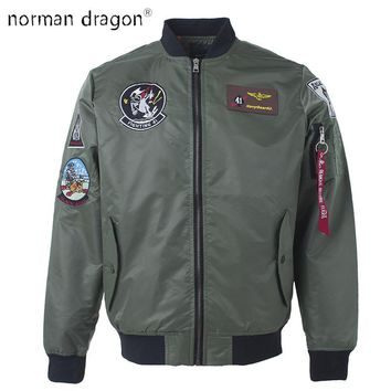 Trendy 2018 top gun patch ma-1 tactical bomber jacket military embroidered Pilot army varsity fly flight japanese letterman for men AT_94_13
