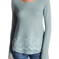 Lucky Brand | Lace Mix Sweater | Nordstrom Rack