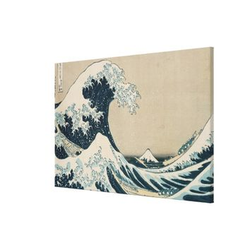 The Great Wave of Kanagawa Stretched Canvas Prints