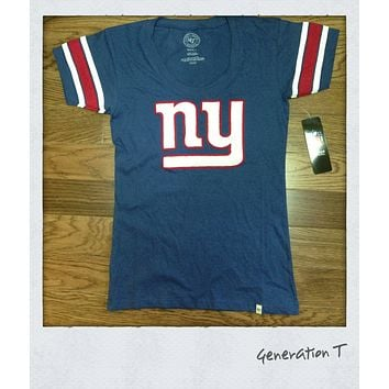 Womens 47 Brand NFL New York Giants Off Campus Tee Shirt