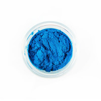 PANDEMONIUM / Natural Mineral Eye Shadow -- LARGE 10 gram Sifter Jar / Shocking Blue Eye Shadow / Blue Mica Pigment / Gifts for Her