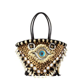 Figue Large Evil Eye Tuk Tuk Tote - Embellished Bag - ShopBAZAAR