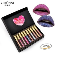VERONNI Fashion Women Sexy Waterproof Matte Liquid Lipstick Set
