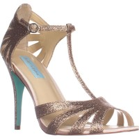 Blue by Betsey Johnson Tee Dress Sandals, Champagne, 7.5 US