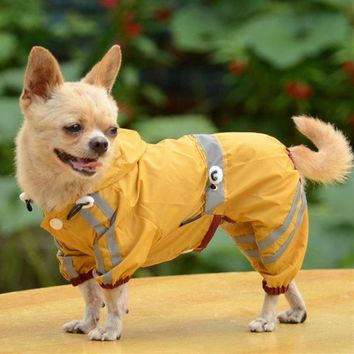 Yorkie Chihuahua Transparent Dog Raincoat