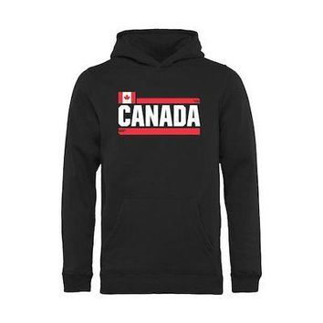 Licensed Sports Canada Fanatics Branded Youth Devoted Pullover Hoodie - Black KO_20_2