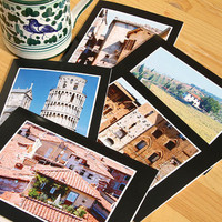 Under the Tuscan Sun, Tuscany Photo Greeting Cards, Pisa, Lucca and Chianti Region, Set of 5 Notecards, Italian Landmarks, Memories of Italy
