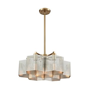 Compartir 7 Pendant Polished Nickel/Satin Brass