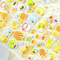 New Arrival Colorful 3D Sumikko Gurashi Cartoon Decorative Sticker Diary Album Label Sticker DIY Scrapbooking Stationery Sticker
