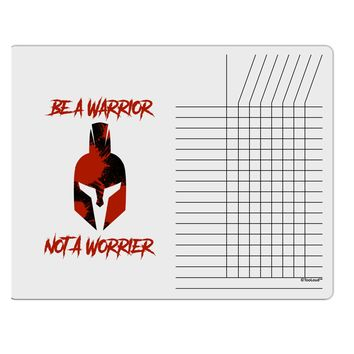 Be a Warrior Not a Worrier Chore List Grid Dry Erase Board by TooLoud