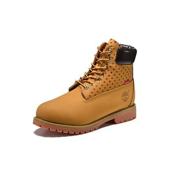 Best Deal Online Timberland 10063 Mens Boots Women Shoes Yellow Wool for Warm