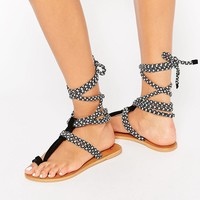 ASOS FACTUAL Tie Leg Sandals