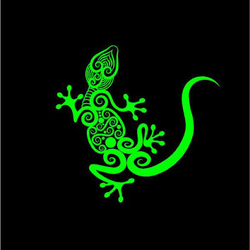 Gecko Intricate Gecko Lizard Vinyl Decal car truck auto vehicle window custom sticker