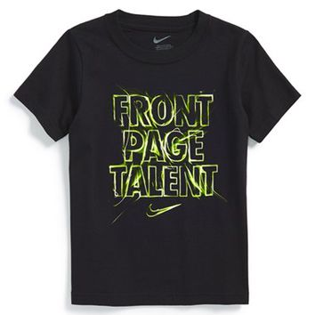 Boy's Nike 'Front Page Talent' Graphic T-Shirt,