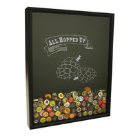Beer Cap Collector Shadow Box - All Hopped Up Design
