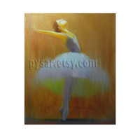 Ballerina Art - Ballerina Dancer - Dance Art - Dancer Art - Wall Decor -  Dancing Wall Art - Canvas Print from Oil Painting by Yuri Pysar