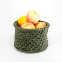 Mail Basket, Large Crochet Basket, Minimalist Decor, Fruit Basket, Plant Basket, Soft Storage Bin, Storage Baskets, Home Organization