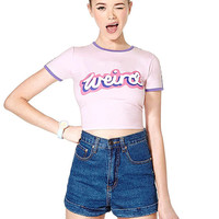 Crop Top In Front letter Print